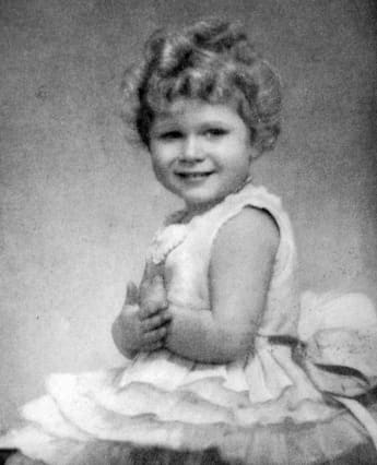 Queen Elizabeth II as a young child