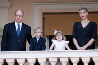 Prince Albert, Princess Charlène and the twins Jacques and Gabriella