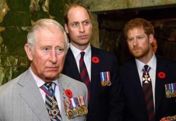El príncipe Carlos, el príncipe William y el príncipe Harry