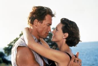 Jamie Lee Curits and Arnold Schwarzenegger in True Lies