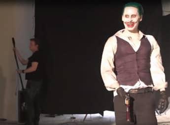 Jared Leto en el set de grabación de 'Suicide Squad'