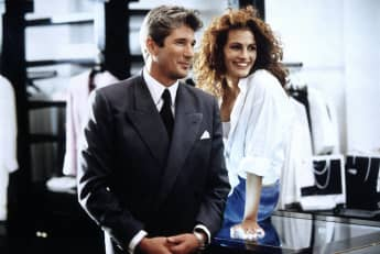 "Richard Gere and Julia Roberts star in the 1990 film, ""Pretty Woman"""