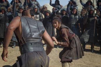 Escena de Khutulun en 'Marco Polo'