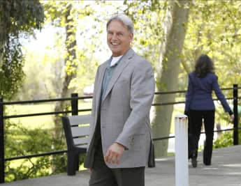 "Mark Harmon as ""Leroy Jethro Gibbs"" on NCIS"
