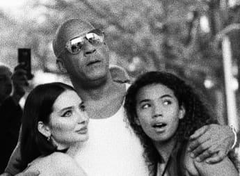 Meadow Walker, Vin Diesel y Hania Riley Sinclair