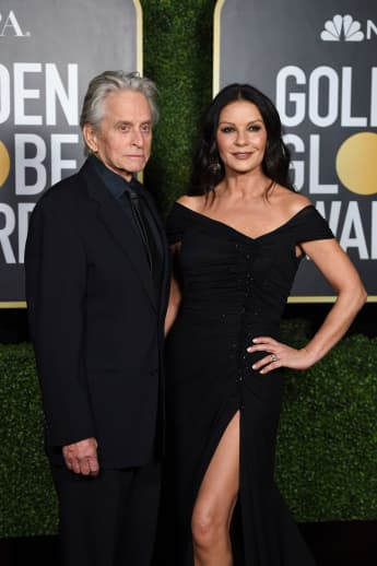 Michael Douglas and Catherine Zeta-Jones at the 2021 Golden Globes