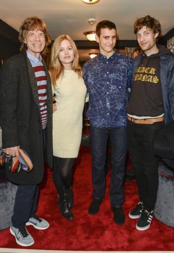 Mick Jagger, Georgia May Jagger, Gabriel Jagger y James Leroy Jagger