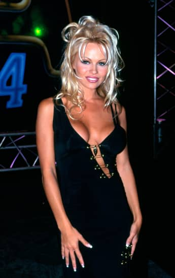 American actress Pamela Anderson arrives at the CCAM Awards, December 1994 in Sydney, Australia