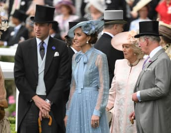 Prince William, Duchess Catherine, Duchess Camilla and Prince Charles at Royal Ascot in 2019.