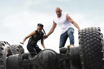 Nathalie Emmanuel and Vin Diesel in a scene from 'Fast and Furious 9' F9
