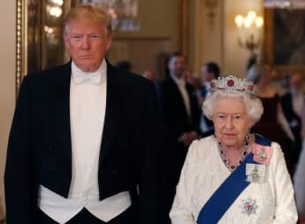 Donald Trump y la reina Isabel