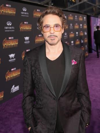 Robert Downey Jr. on the red carpet for the Avengers: Endgame premiere
