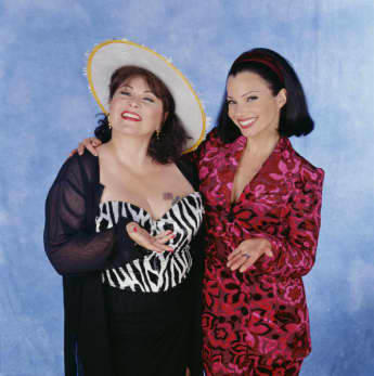 Roseanne Barr and Fran Drescher in 'The Nanny'