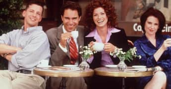Sean Hayes, Eric McCormack, Debra Messing and Megan Mullally Will & Grace Cast 1998