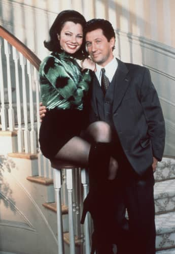 """Fran Fine"" and ""Mr. Sheffield"" in The Nanny."