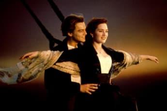 Leonardo DiCpario y Kate Winslet en 'Titanic' en 1997.