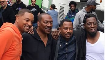 Will Smith, Eddie Murphy, Martin Lawrence and Wesley Snipes in Atlanta, Georgia.