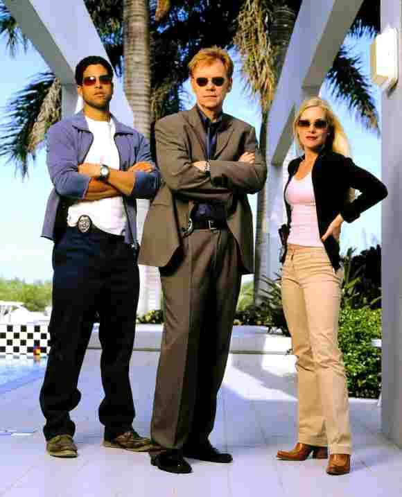 Miembros del elenco de 'CSI': Adam Rodríguez, David Caruso y Emily Procter.