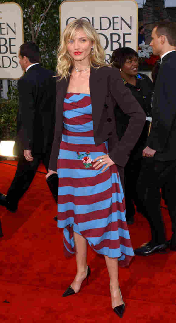 Actress Cameron Diaz attends the 59th Annual Golden Globe Awards 2002