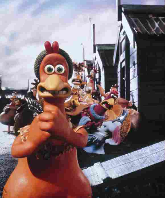 Chicken Run (2000) stop motion animation movie directed by Peter Lord and Nick Park.