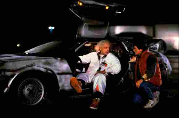 """""""Back To The Future"""" stars Michael J. Fox and Christopher Lloyd"""