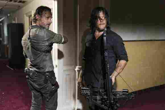 """""""Daryl"""" and """"Rick"""" from The Walking Dead"""