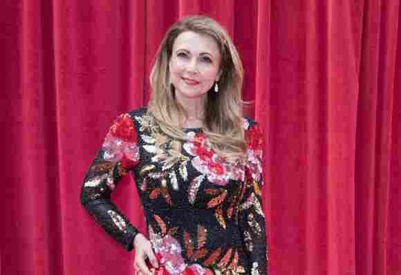 Dynasty Star Emma Samms Is Engaged Simon McCoy GB News Fallon Carrington Colby actress today now 2021 age