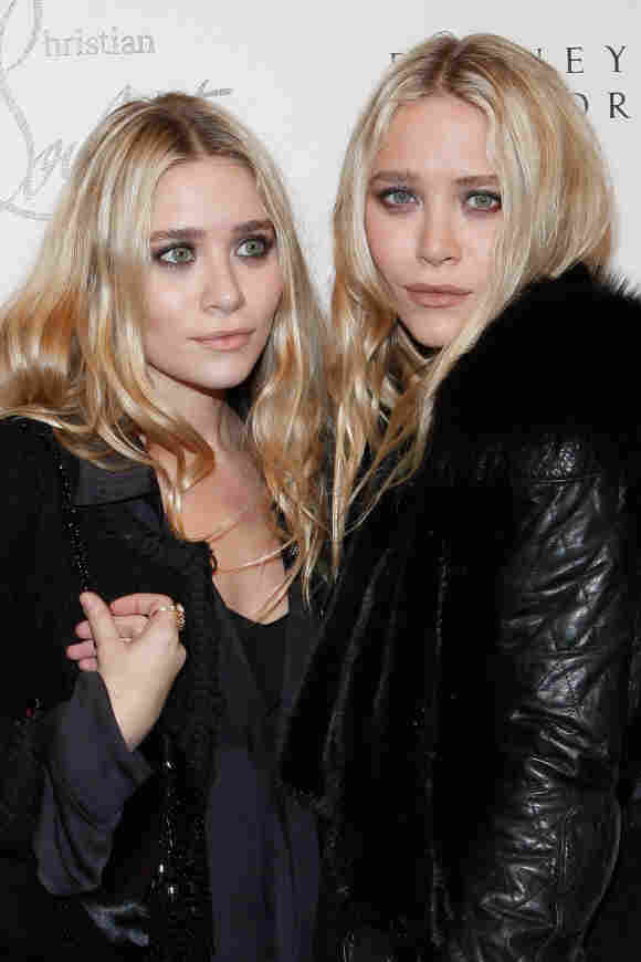 Ashley Olsen and Mary-Kate Olsen attend the Christian Louboutin Cocktail party.