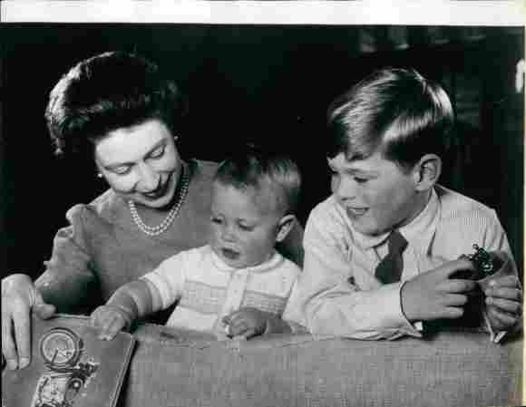 Queen Elizabeth II, Prince Edward, and Prince Andrew.