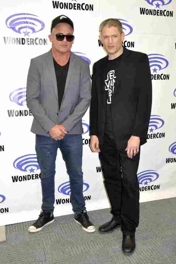 Los miembros del elenco de The Prison Break, Wentworth Miller y Dominic Purcell.