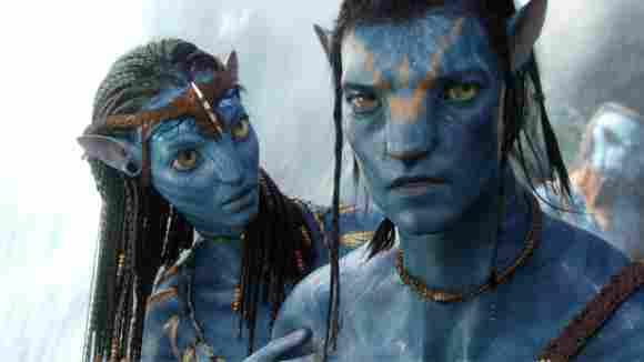 Zoe Saldana y Sam Worthington en 'Avatar'