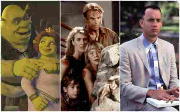 'Shrek', 'Jurassic Parks' and 'Forrest Gump'