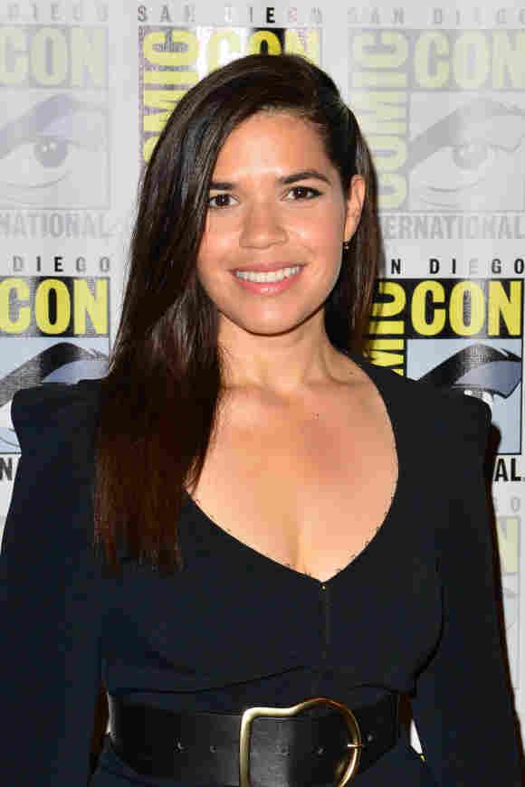 America Ferrera attends the Superstore press line at San Diego Comic-Con, July 18, 2019.