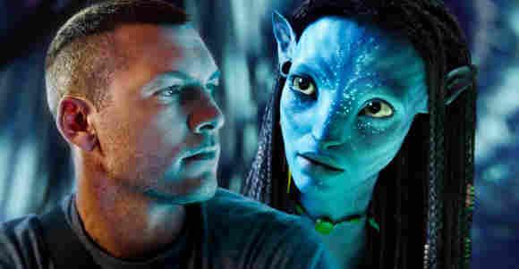 Sam Worthington and Zoe Saldana in 'Avatar'.