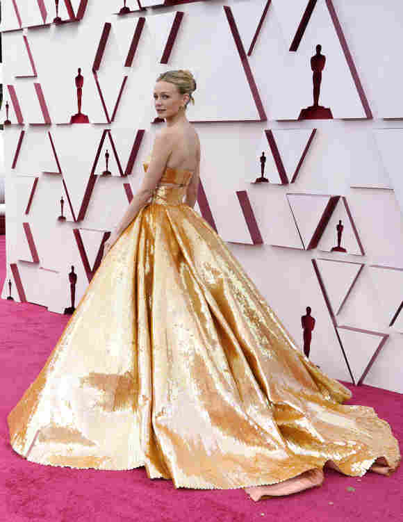 Carey Mulligan attends the 93rd Annual Academy Awards, April 25, 2021.