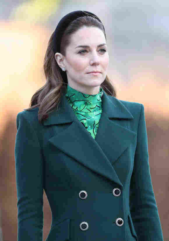 Duchess Catherine at the wreath laying ceremony.
