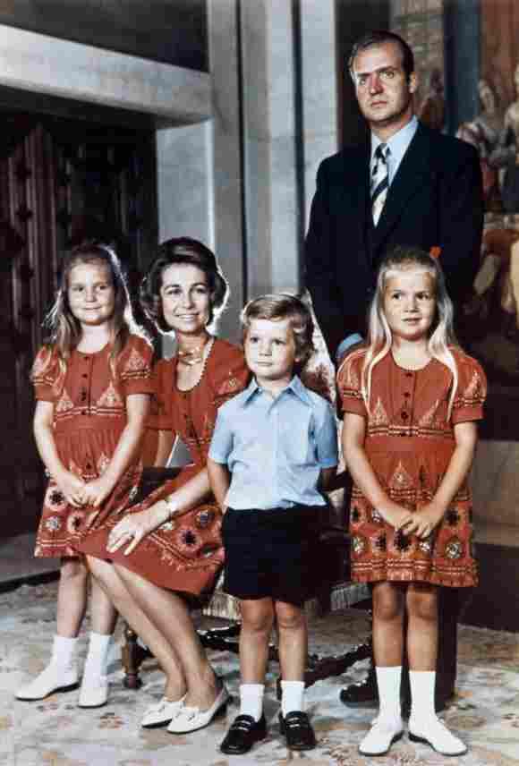 La familia real española en 1973