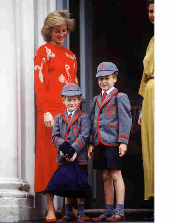 Lady Diana, Prince Harry and Prince William
