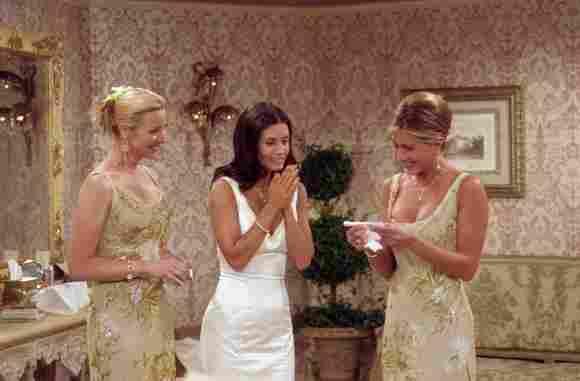 Lisa Kudrow, Courteney Cox Arquette, y Jennifer Aniston
