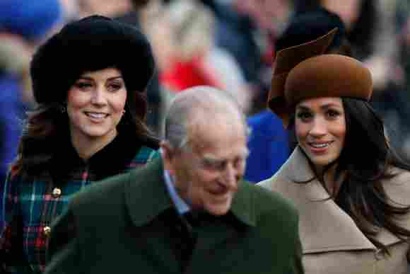 Meghan Markle y Kate Middleton asisten al servicio religioso de Navidad de 2017