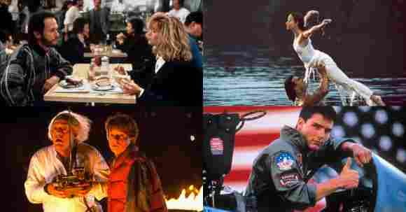 'When Harry Met Sally', Dirty Dancing', Back To The Future', and 'Top Gun'