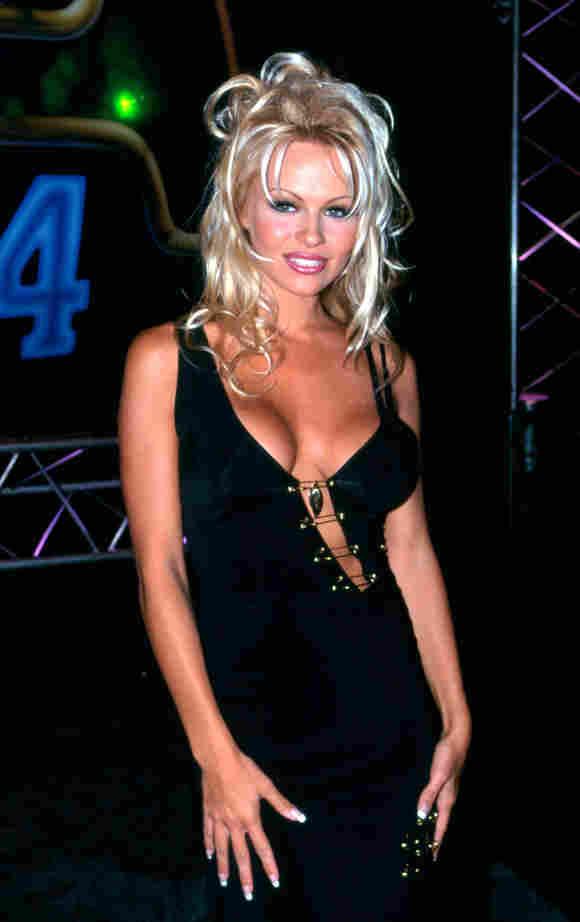 American actress Pamela Anderson arrives at the CCAM Awards, December 1994 in Sydney, Australia