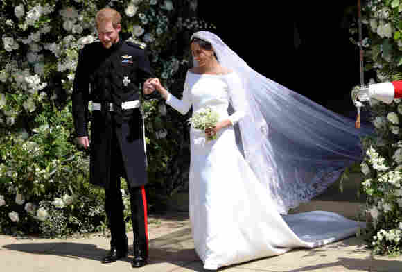 El príncipe Harry y Meghan, duquesa de Sussex el día de su boda en el castillo de Windsor.