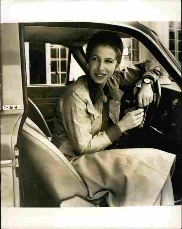 Princess Anne with her birthday present from the Queen and Prince Philip, on August 11th, 1971.