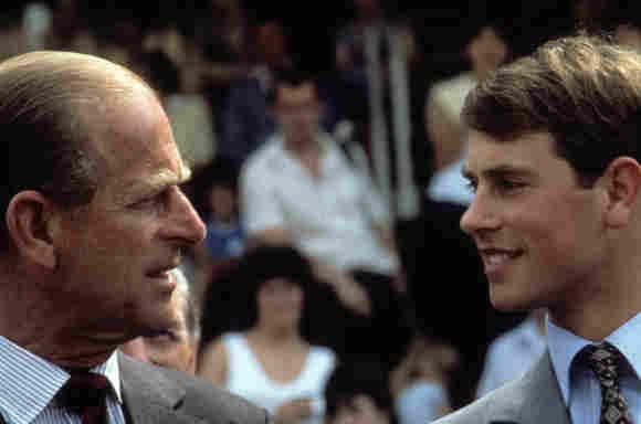 El Príncipe Eduardo y el Príncipe Felipe en 1984