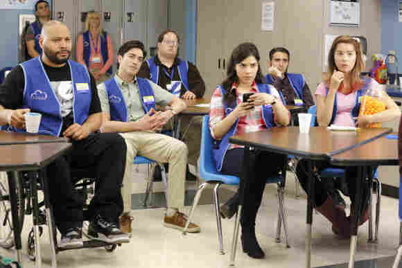 A scene from the pilot episode of 'Superstore,' which first aired November 30, 2015.