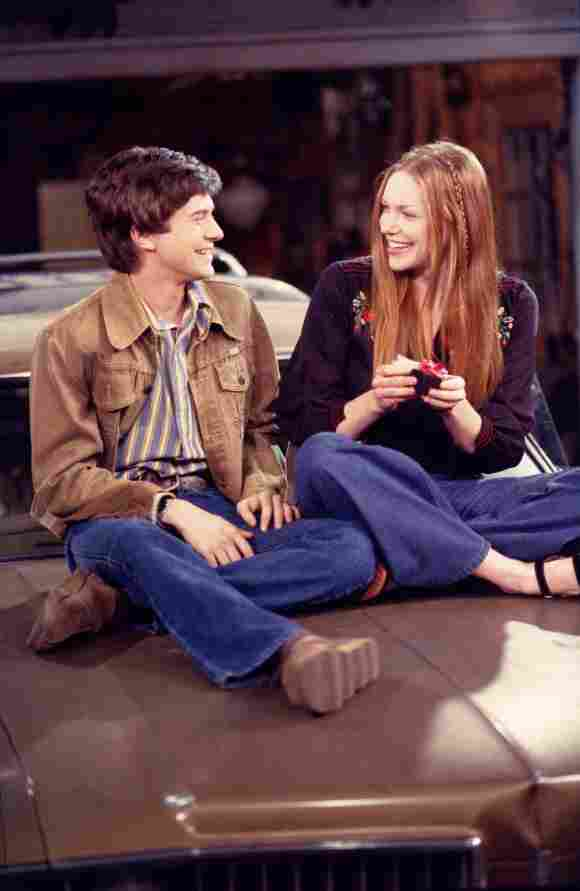 Topher Grace and Laura Prepon in 'That '70s Show'.