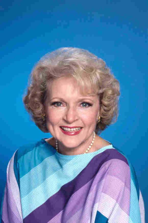 """Betty White as """"Rose Nylund"""" in 'The Golden Girls'."""