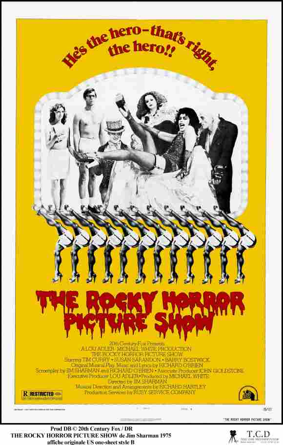 The Poster for Jim Sharman's 1975 film 'The Rocky Horror Picture Show'.