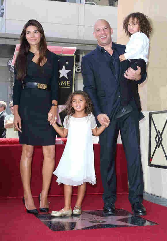 Vin Diesel, Paloma Jiménez y sus hijos